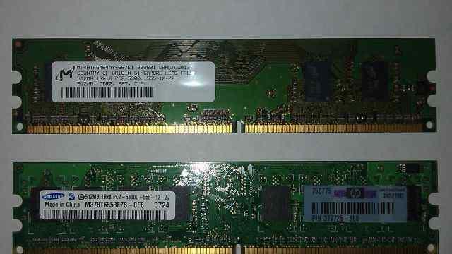 DDR2 / DDR II 512 MB Samsung / Micron (8 модулей)