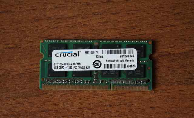 Планка памяти для ноута Crucial CT51264BC1339 4Gb