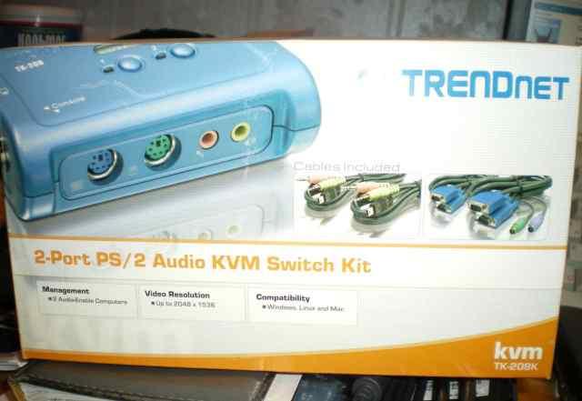 KVM-свич TK208-K два компьютера на один монитор