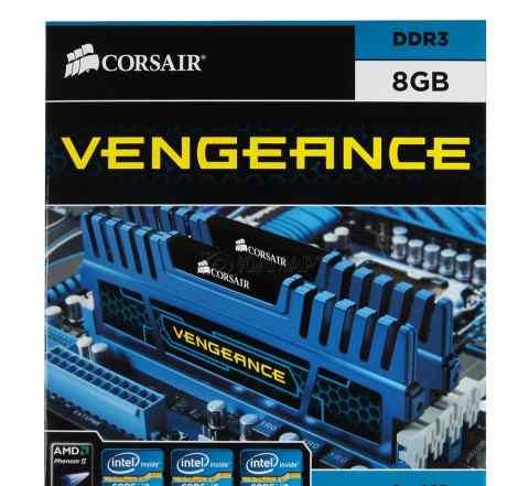 Память dimm DDR3, 8гб (2x4гб), Corsair Vengeance