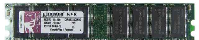 Память Kingston KVR400X64C3A/512 2 штуки