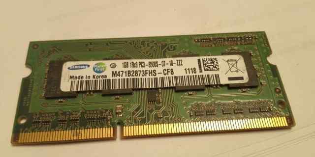 озу so-dimm DDR3 1066 MHz Samsung Korea