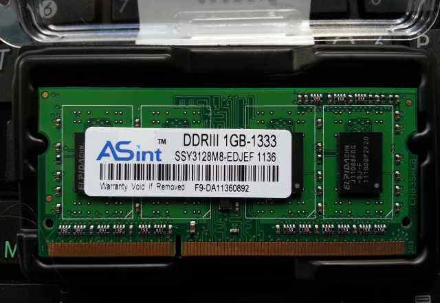 Оперативная память Asint ddrIII 1gb-1333