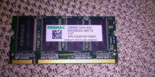 Для ноутбука sodimm 200 256MB DDR-400