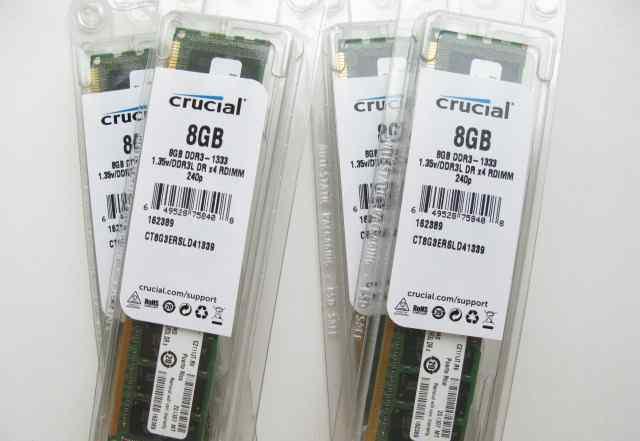 8GB DDR3 2Rx4 1333MHz Crucial ECC Reg 1.35V