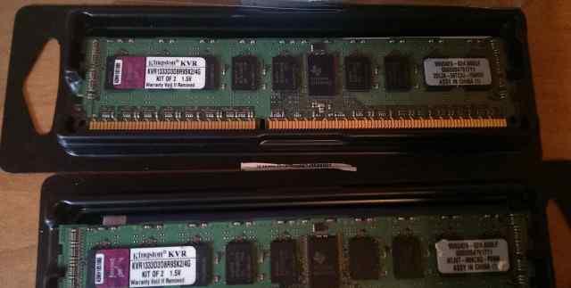 Модуль памяти Kingston 2х4 Гб DDR3 1333 ECC озу