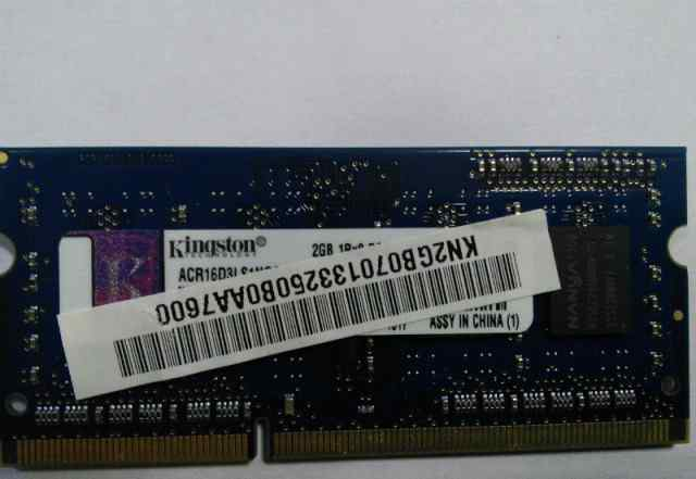 DDR3l so dimm kingston 2gb 12800 1600 из macbook
