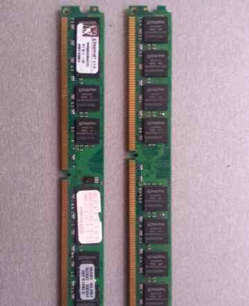 Оперативная память DDR2 KVR800D2N6K2/2G 1GB 4шт