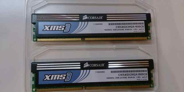 Оперативная память Corsair CMX4GX3M2A1600C8 4GB