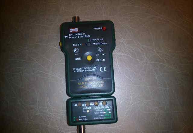 Тестер MS6810 кабельный для витой пары, коаксиала