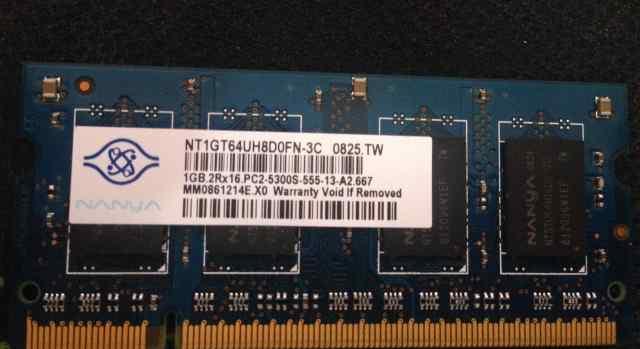 Nanya 1gb 2Rx16 PC2-5300S-555-13-a2.667