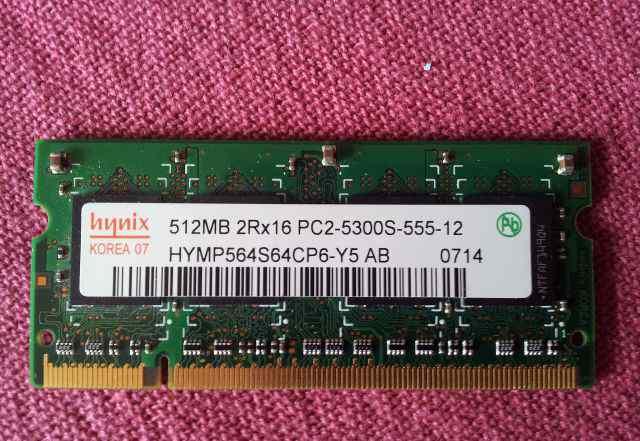 Оперативная память DDR2 Hynix 512MB 2Rx16