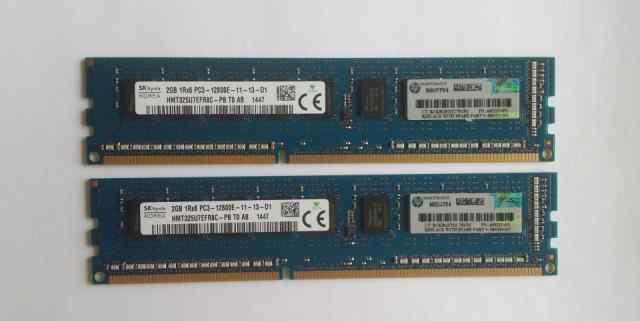 Память HP 2GB 1Rx8 PC3-12800E-11 (669320-B21)