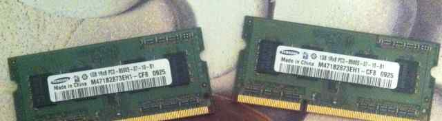 SO-dimm Samsung 2шт 1Gb pc3-8500 1Rx8