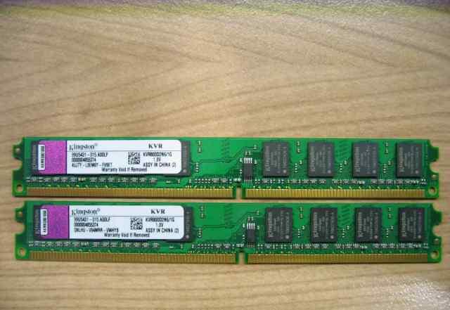 Оперативная память DDR2 2GB Kingston low profile