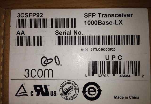3csfp92 SFP Transceiver 1000Base-LX