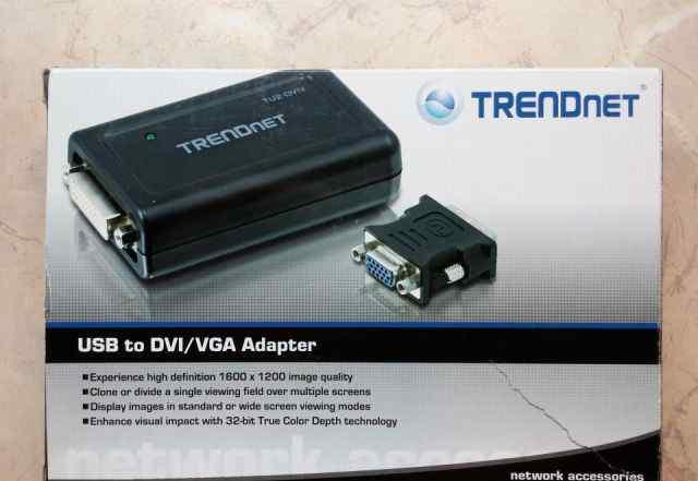 Trendnet TU2-dviv USB удлинитель для монитора