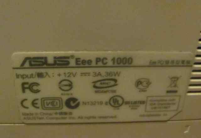 Нэтбук Eee PC 1000