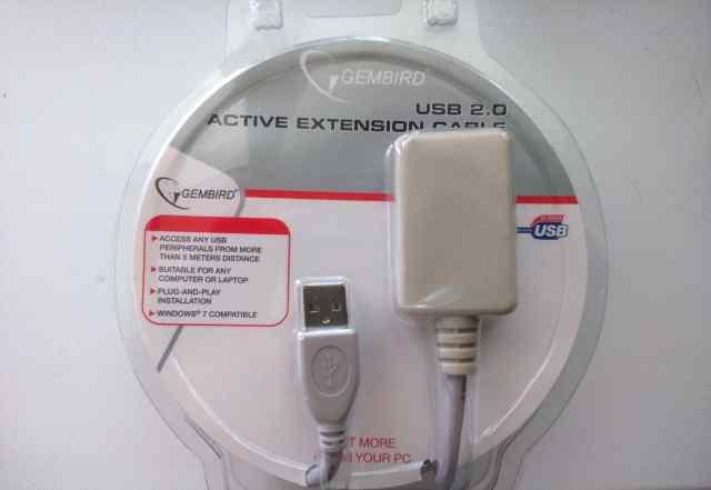 Активный удлинитель USB 2.0 Gembird