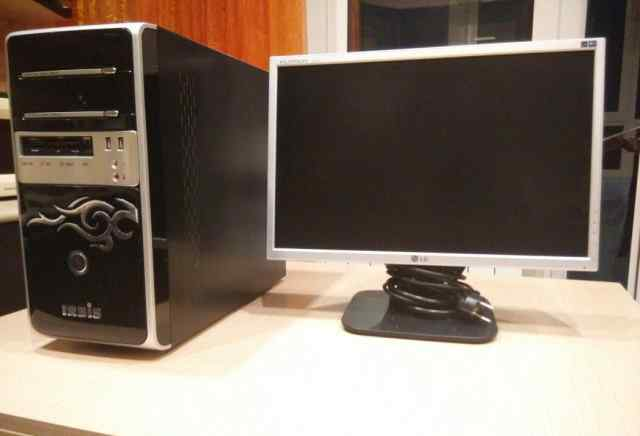 Домашний компьютер с монитором LG l192ws