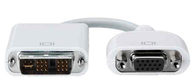 Оригинальный адаптер Apple DVI to VGA в идеале