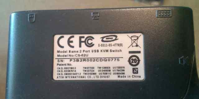 Aten CS-62U kvm-switch квм-переключатель
