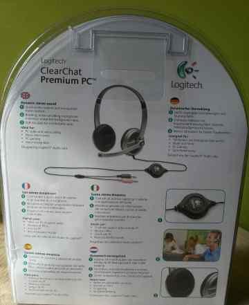 Наушники с микрофоном-гарнитура Logitech ClearChat