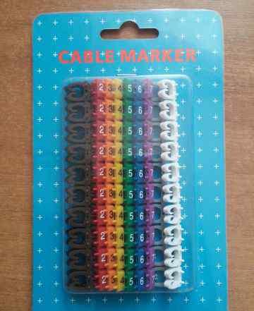 Маркер-клипсы на кабель cable marker