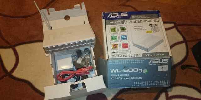Adsl2+ WiFi роутер asus WL-600g