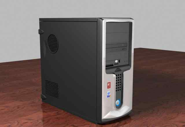 Системный блок 2008 года + ж/к монитор Acer 17