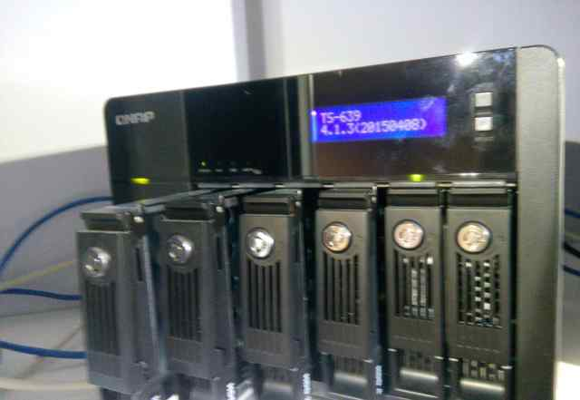 Qnap TS-639 Pro сетевое хранилище на 6 дисков