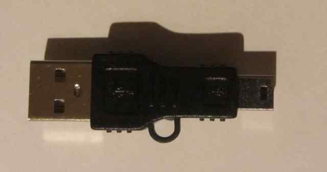Переходник адаптер mini USB - USB кабель шнур