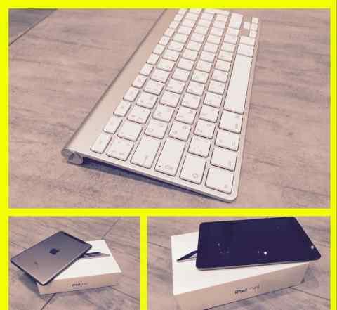 iPad mini retina 64гб wi-fi + cellular+ клавиатура