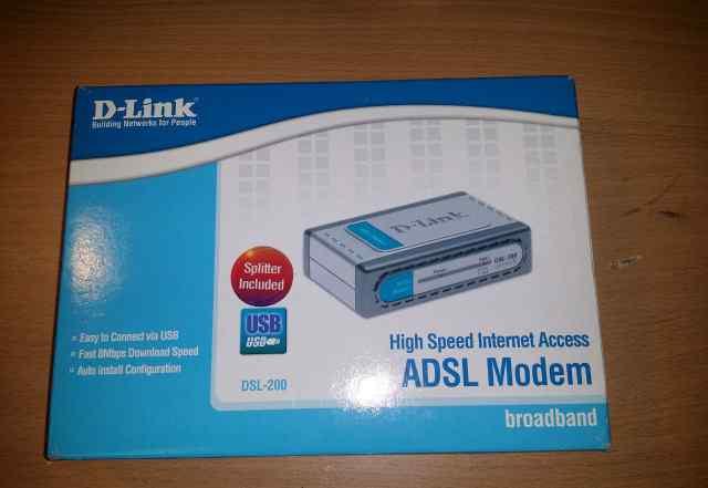 Adsl модем D-Link DSL-200