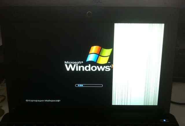 Asus Eee PC 1001PX треть экрана не работает