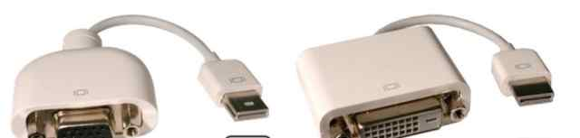 Кабель Apple micro-DVI to DVI/VGA