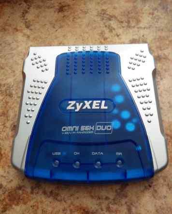 Внешний модем Zyxel omni 56K DUO