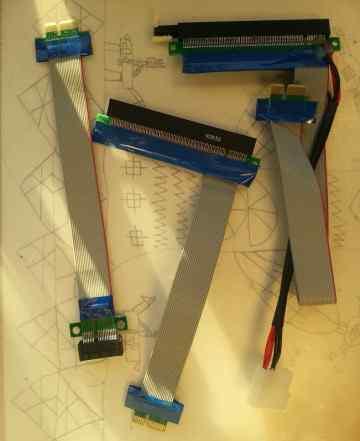 Райзеры (riser) PCI-E 1X - 16X, PCI-E 1х - 1х