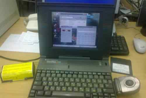 Ноутбук Texas Instruments TravelMate 4000E (1993г)