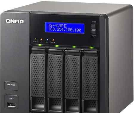 Сетевое хранилище qnap TS-419P на 4 диска