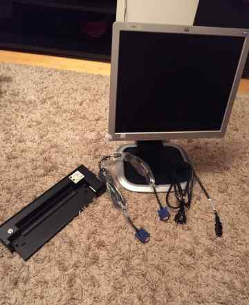 Монитор HP L1750 и док станция HP 2540