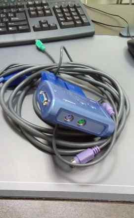 2-х портовый переключатель KVM Switch TK-205