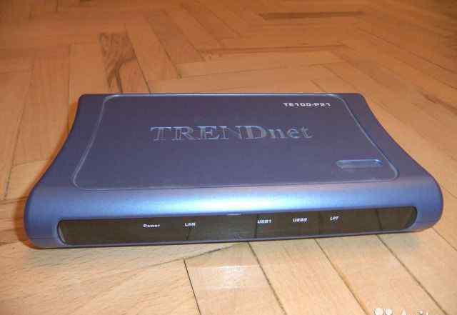 Принт-сервер USB/LPT TrendNet TE100-P21