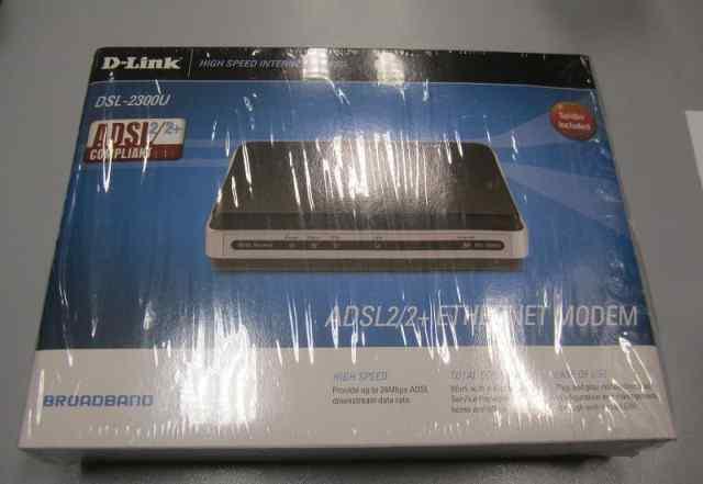 Новый adsl модем D-link DSL-2300U