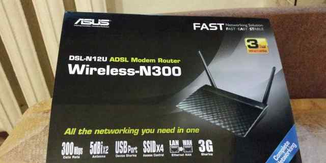 Модем asus DSL-N12U Wireless-N300