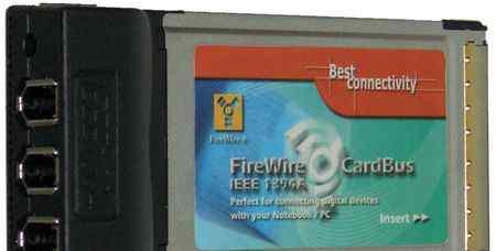 Контроллер CardBus ieee 1394, 3 port (chipset NEC)