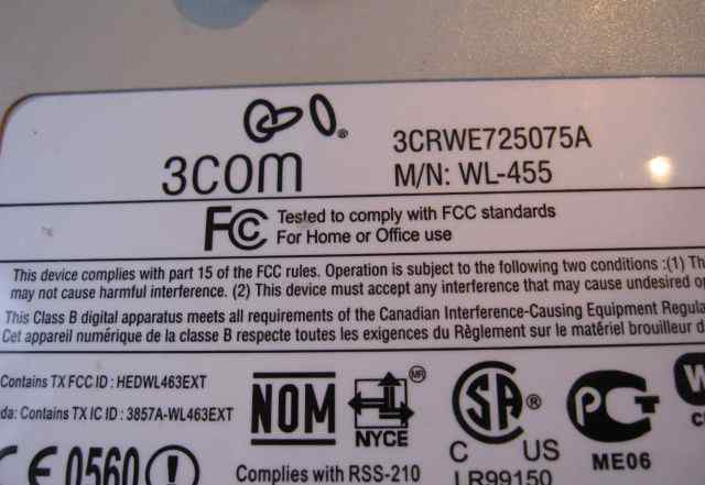 Wi-Fi точка доступа 3COM