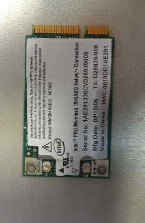 Wi-Fi модуль WM3945ABG MOW2 Intel Pro mini PCI-E