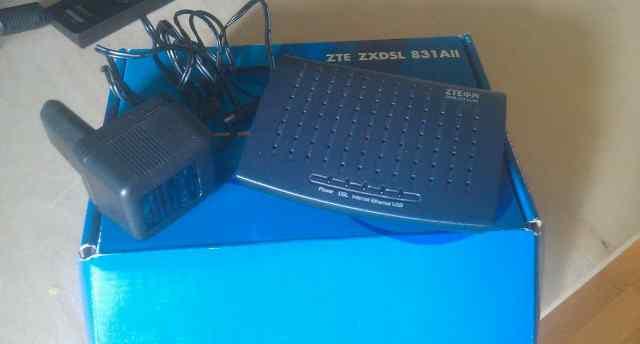 Роутер ZTE zxdsl 831AII (полный комплект)
