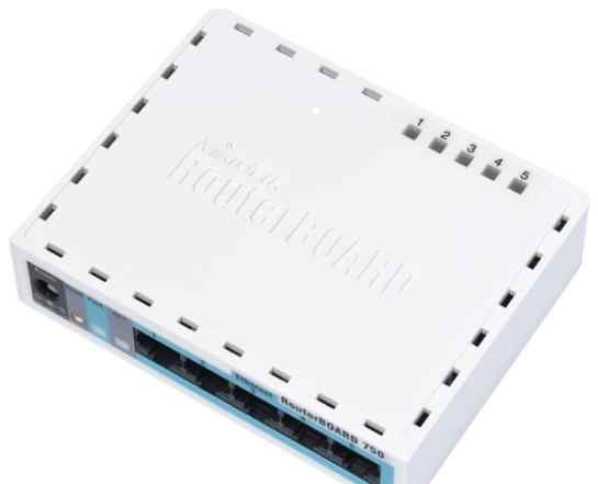 Маршрутизатор (роутер) MikroTik Routerboard 750